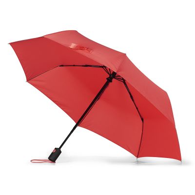 FIORE,  foldable windproof umbrella with auto open/close function, red