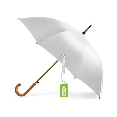 CLASSIC RPET, rpet umbrella with automatic opening, white