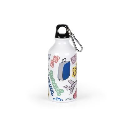 CAMPUS SUBLI, sports bottle, 400 ml, white