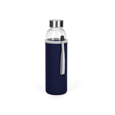 PRIMAVERA, glass bottle with neoprene pouch, 500 ml, blue